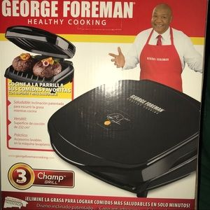 NWOT George Foreman Healthy Cooking Electric Grill